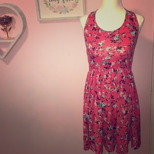 Rue 21 coral floral dress S